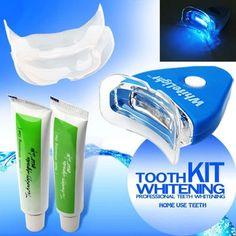明るい笑顔新しい歯科白い歯ホワイトニングでledライト用男性女性ケア口腔衛生歯の健康セキュリティホワイトナーキット