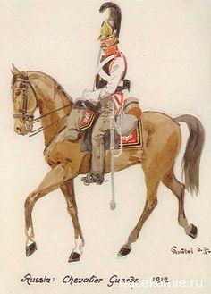 Chevalier-garde - 1812 - par Knötel