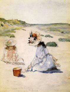 "William Merritt Chase (American, 1849-1916) - ""On the Beach, Shinnecock"", 1895"