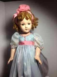 ANNE SHIRLEY LITTLE LADY COMPOSITION F& B DOLL 1930'S .RARE BIG 28''TALL #Dolls