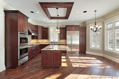 #Kitchen of the Day: Cherry-stained kitchens gallery.