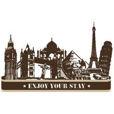 Vinilos Ciudades Enjoy Your Stay
