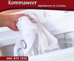#TuesdayTip: Wash your curtains after pre-treatment. Now that the curtains have been rinsed of dirt, dust and any stains have been pre-treated for removal, you can wash your curtains. Most curtains can be washed in a normal washing machine on the delicate cycle, especially if they are made from cotton or polyester. #Kommaweer