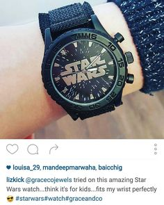 We love to see your photos! @lizkick tried on this amazing star wars watch we have just had delivered to the stores!  - Shop now > http://ift.tt/1Ja6lvu