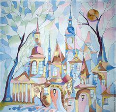 Елена Моф. Панно Мозаичное. Handmade. Картина на шелке