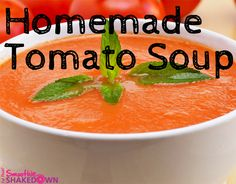 Homemade Tomato Soup #recipe #FatFlush