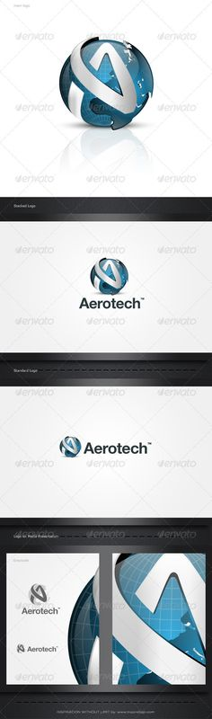 "3D/2D Tech Logo   #GraphicRiver         Aero Tech:  	 This brand is suitable for every kind of business sector.Name, color…etc changes can be done according to your desire.Best suited for art, accounting firms, technology, community, association, travel, related products and services,and others.  	 INCLUDED IN THE MAIN FILE : -> ""1"" Ai (Adobe illustrator) -> ""1"" EPS (Encapsulated PostScript) -> ""4"" PSD (Photoshop) -> ""4"" PNG (Transparent Background) -> ""4"" JPG : – Stacked Logo 1094×860 pixel"