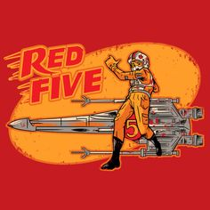 Red Five. Star Wars and Speed Racer mashup design. makes me think of my older sister and how she loves speed racer and xwings