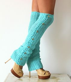 Teal Leg Warmers. love