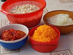 Zacusca de fasole boabe - Bunătăți din bucătăria Gicuței Macaroni And Cheese, Grains, Rice, Ethnic Recipes, Food, Essen, Mac And Cheese, Yemek, Jim Rice