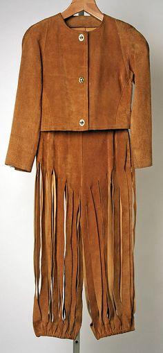 1971 suede leather Pantsuit, Bonnie Cashin, American