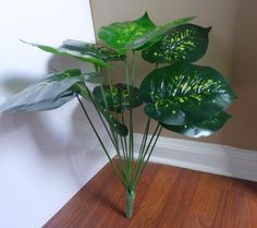Artificial Plants Bouquet Palm Tree Bush Lifelike 12 Leaves Plants (15' Height) Trees and Shrubs for Decoration Table Office Desk Kitchen Restaurant Home Decor Indoor Landsacpe (No Vase Included) 1 Pcs * To view further for this item, visit the image link.