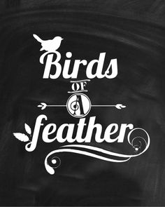 Birds of a Feather – Free Printable