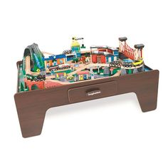 Imaginarium 100 + Piece Mountain Rock Train Table found a table 4 river I like for first birthday?