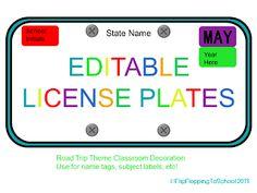 Mini License Plate Template