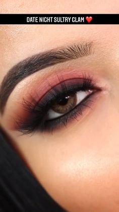 Smoke Eye Makeup, Eye Makeup Steps, Makeup Eye Looks, Eye Makeup Art, Skin Makeup, Makeup For Night Out, Date Night Makeup, Brown Smokey Eye Makeup Tutorial, Makeup Looks Tutorial