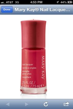 Radiant red nail lacquer