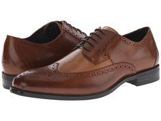 1920s vintage style mens shoes. Stacy Adams - Garrison CognacTaupe Mens Lace Up Wing Tip Shoes $90.00 AT vintagedancer.com