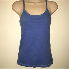 AE Blue Racerback Tank Top Sz Small American eagle blue racerback tank top. Never worn. Size small American Eagle Outfitters Tops Tank Tops