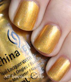 China Glaze - Champagne Bubbles    #chinaglaze #gold