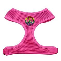 Mirage Pet Products Rainbow Peace Sign Chipper Harness, Small, Pink