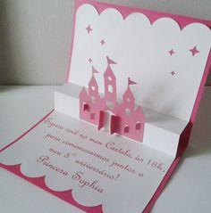 convite princesa 3d - Pesquisa Google 3rd Birthday Cakes, Frozen Birthday, Birthday Cards, Invitation Design, Invitation Cards, Birthday Invitations, Wedding Invitations, Disney Cards, Cinderella Birthday
