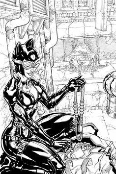 Batman: Arkham City - Catwoman by Carlos D'Anda
