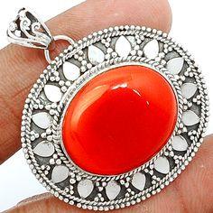 Carnelian 925 Sterling Silver Pendant Jewelry CRNP656