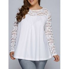 SHARE & Get it FREE | Plus Size Lace Splicing Long Sleeve BlouseFor Fashion Lovers only:80,000+ Items·FREE SHIPPING Join Dresslily: Get YOUR $50 NOW!