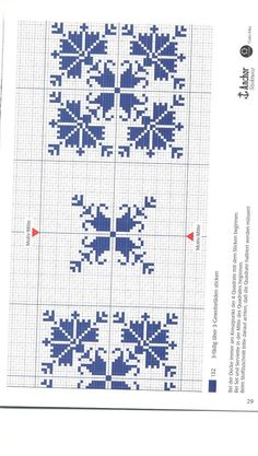 Tovaglietta centrotavola monocolore fiori stilizzati punto croce