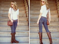 boots: famous footwear, cords: old navy, belt: delias, top: gap, purse:F21, shades: target, necklace: F21