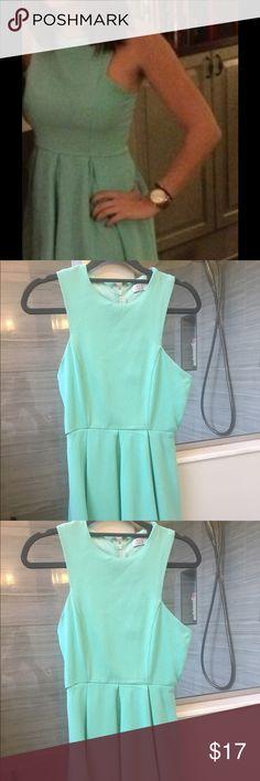 Tobi Blue Dress High neck dress, worn twice, very good condition Tobi Dresses Mini