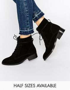 ASOS | ASOS ALIZA Suede Lace up Ankle Boots