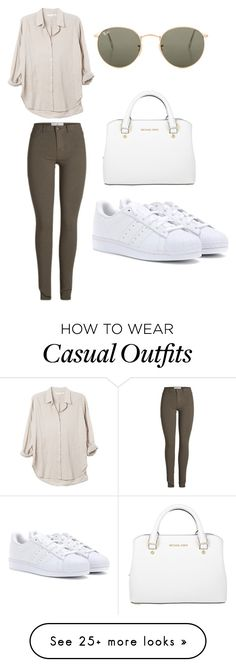 """September Casual"" by kayla-k13 on Polyvore featuring adidas, Ray-Ban, Michael Kors and early"