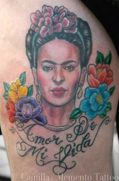 Frida Kahlo, new traditional color portrait. Mexican painter.