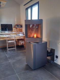 st v p 10 pellet stove red dot award product design. Black Bedroom Furniture Sets. Home Design Ideas