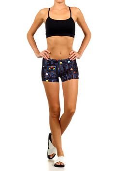 Pacman in Love Itty Bitty Shorts | POPRAGEOUS