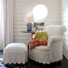 love this scallop slipcovers, so cute