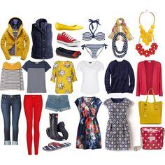 Capsule Wardrobe: Cornwall by tinkerbellaboo on Polyvore featuring Boden, Gap, Eastex, Joules, Seasalt, Zalando, Superdry, MANGO, Hudson Jeans and Junya Watanabe