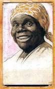 """Portrait of Nancy Green as """"Aunt Jemima"""" by A. Nancy Green (November 1834 – September was a storyteller, cook, activist, and one of the first African-American models hired to promote a corporate trademark as """"Aunt Jemima"""". Aunt Jemima, African American Models, My Old Kentucky Home, Black History Facts, History Class, Women In History, Black People, Black Is Beautiful, Black Art"""