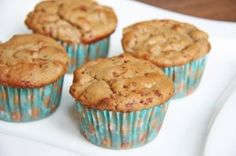 Skinny Apple Pie Muffins with 2 ingredient recipe.