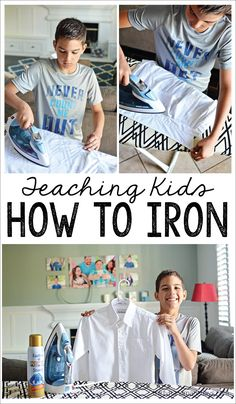 Teaching your kids household chores like ironing helps them become more independent. It also prepares them for adulthood. Here are some tips on how to teach your kids how to iron. Summer Crafts For Kids, Summer Kids, Kids Crafts, Teaching Kids, Kids Learning, 3 Year Old Activities, How To Teach Kids, How To Iron Clothes, Practical Life