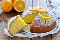 Torta allarancia e yogurt greco. Recipe Scrapbook, Breakfast Cake, Strudel, Cornbread, Vanilla Cake, Eat Cake, Sweet Tooth, Yogurt Greco, Cheesecake