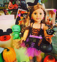 Debs HALLOWEEN Pumpkin Top Skirt Leggings Bag Doll Clothes For 18 American Girl