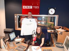 Working with the BBC regions, we coordinated local and regional press interviews for the Community Games Relay.  Here is Day 24 shining light Jez Glenon (nominated by Tees Valley Sport) receiving his commemorative Community Games Relay jersey on BBC Tees breakfast show.
