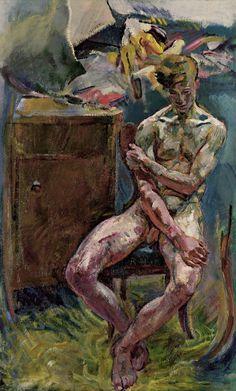 Seated Youth (In the Morning) - Anton Kolig, Austrian. Oil on canvas © Leopold Museum, Anton, Georges Seurat, Renoir, Gustav Klimt, Art Masculin, Charles Gleyre, Ludwig Meidner, Paula Modersohn Becker, Male Body Art