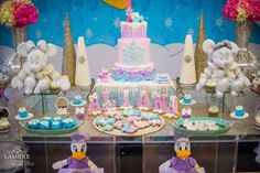 Minnie Mouse and Daisy Winter Wonderland | CatchMyParty.com