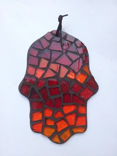 Hey, I found this really awesome Etsy listing at https://www.etsy.com/listing/191061998/hamsa-suncatcher-warm-color-mosaic-glass