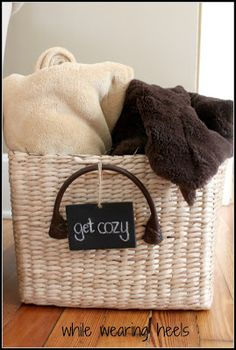 Get Cozy Basket- could even make something like this