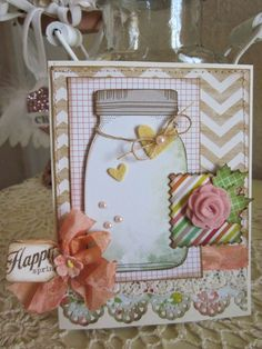 Happy, uses Dear Lizzy Neopolitan paper by American Crafts